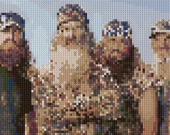 Duck Dynasty portrait counted Cross Stitch Pattern
