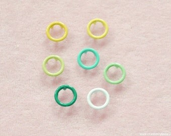 100 sets, Mixed Colors (7 colors) Open Prong Snap Button, Lead-Free and Nickel-Free