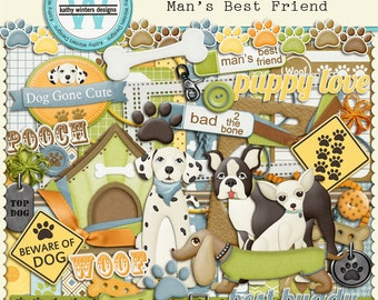 Digital Scrapbook Man's Best Friend