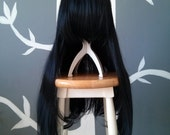 CLEARANCE - Ebony - Black Layerless Superlong Wig - FREE SHIPPING