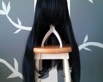 CLEARANCE - Ebony - Black Layerless Superlong Wig - FREE SHIPPING