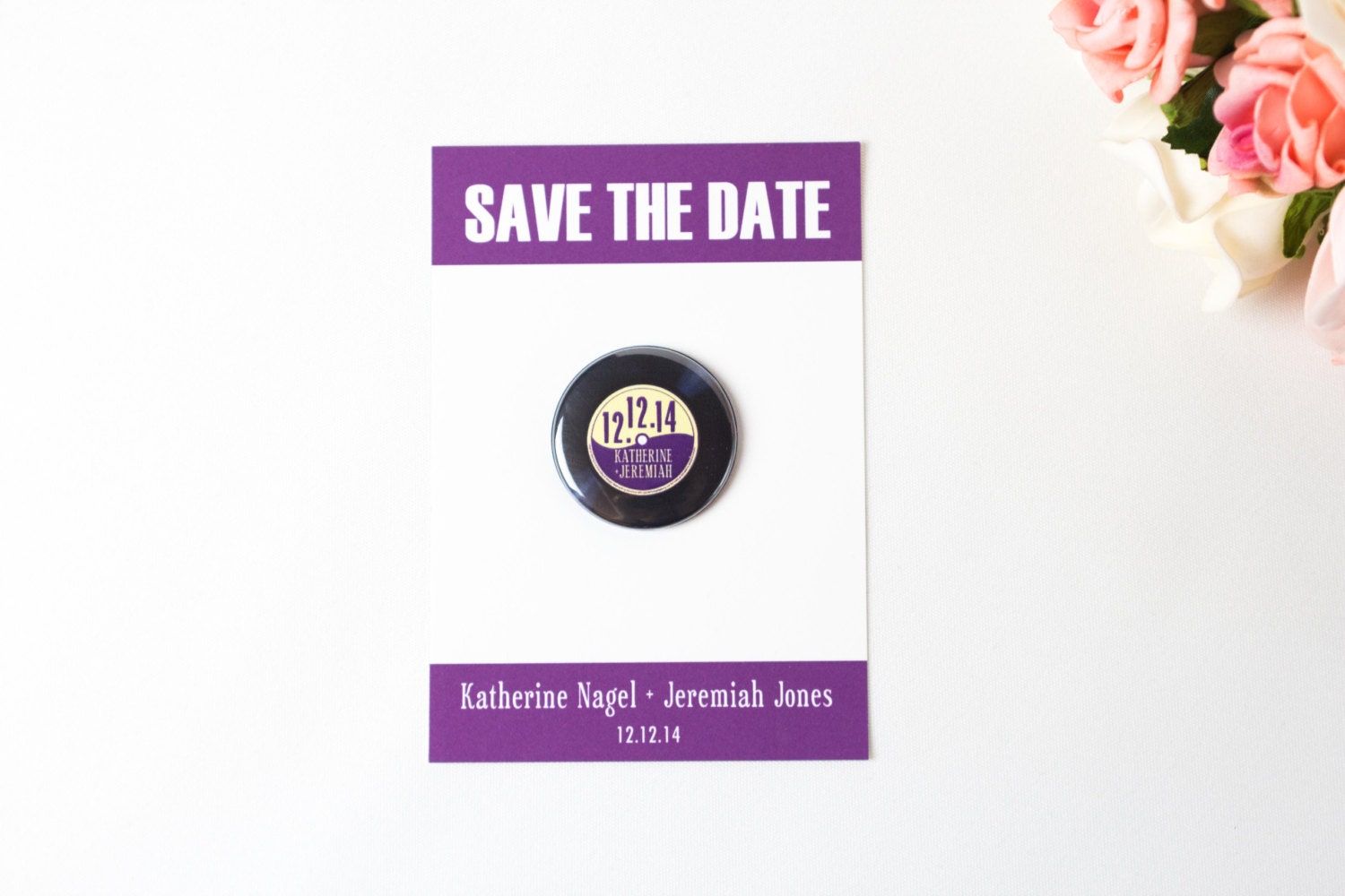 Rock and roll wedding invitation vinyl record retro invite for Etsy vinyl wedding invitations