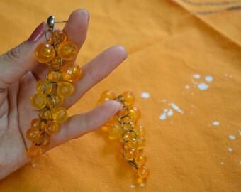 Yellow chandelier earrings