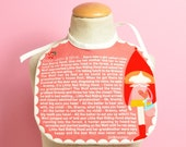 baby bib Once Upon a Time... Little Red Riding Hood tale (baby girl) - red & pink