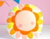 decorative throw pillow for kids room with orange PinkNounou