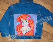 Disney Mermaid Boutique custom A-riel jacket 12 18 24 2 3 4 5 6 7 8 9 10 11 12 14