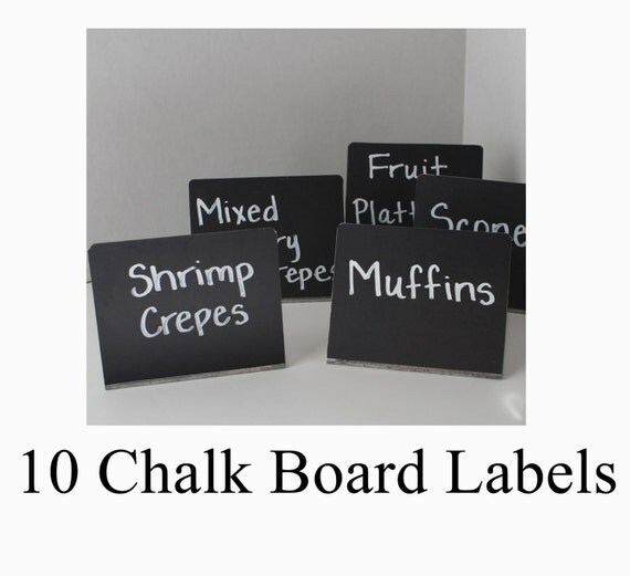 Buffet table signs 10 chalkboard labels candy by sierrametaldesign
