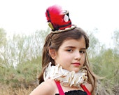 Queen of Hearts Mini Top Hat Headband All Sizes Newborn through Adult Tea Party Birthday Party Alice in Wonderland
