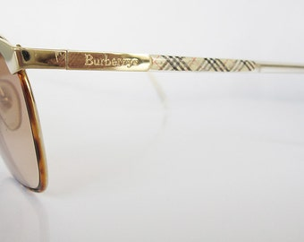 French Made 80's Vintage Burberrys Square Frame Sunglasses