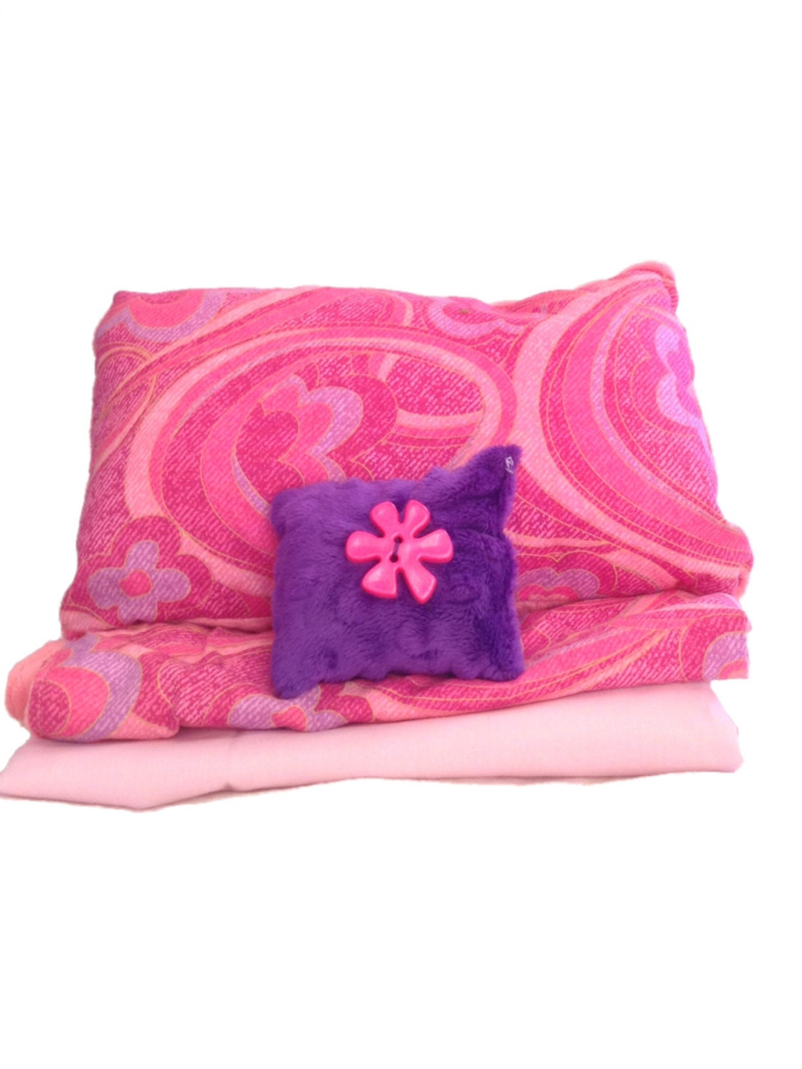Pink and purple swirl bedding set by juliascustomstitches - Purple and pink comforter ...
