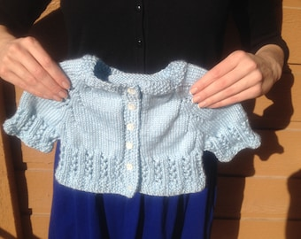 Sweet Spring Lace Preemie/Newborn Sweater