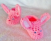 Easter shoes - Baby slippers - baby photo prop - unisex slippers - warm baby shoes - bunny slippers - baby bunny slippers - bunny rabbit