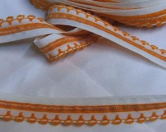 Orange and white decorative tape