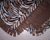 Fleece Blanket - Animals - Tiger