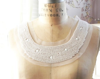 1 applique neck collar yoke