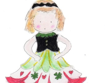 Irish Step Dancer Set of five note cards personalized free of charge