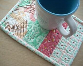 Summerlove again mug rug - FREE SHIPPING