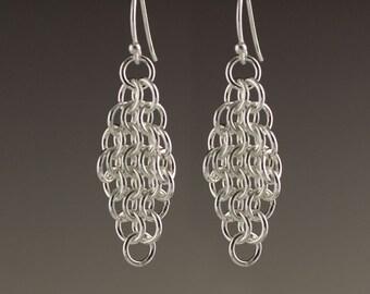 Sterling Silver Mesh Earrings - size 5