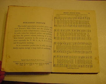 1894 Towners Male Choir Combined Music Christian Songs Numbers 1 - 4 combined Praise for Male Voices Singing