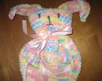 Bunny Comfort Blanket, Easter Bunny Blanket, Bunny Toy