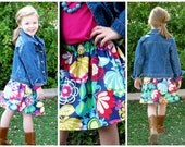 BUY 2 Get1 FREE- Secret Garden -Baby Toddler Girls Twirl Skirt -Beautiful Floral Print - Great for Spring Summer - Matching Top Available