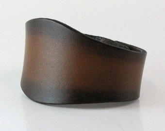 "Leather Cuff Minimalist Womens Large Mens Medium Leather Bracelet 8.5"" Leather Renaissance Cuff Ren Faire Cuff"