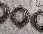 "18x13mm Antique Silver Setting - ""Sweet n' Petite"" - 3pcs : sku 07.04.13.3 - U15"