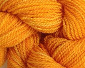 Merino Wool Yarn Lace Weight in Mama Orange Hand Painted