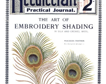 Decorative Embroidery Shading 2nd Series Needlework Practical Journal No. 77 Digital Download