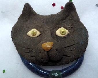 Black Kitty Cat  Brooch