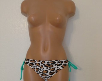 Seashore cheetah bikini bottoms