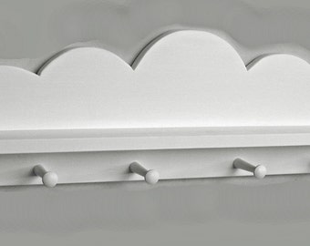 White CLOUD COAT RACK with Shelf - Children's & Nursery Decor, Kids' Shelves, Baby
