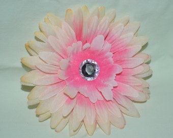 Light Pink Flower Hair Clip and Light Pink Crochet Headband