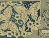 antique french art deco richelieu lace butterfly pattern stencil