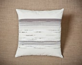 Raw Wool Series / Landscape - Handwoven cushion cover