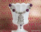 Purple Jade Necklace Plum...