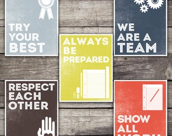 INSTANT DOWNLOAD Classroom Rules Posters