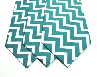 Teal Neckties Teal Chevron Neckties Custom Neckties Wedding Neckties Neckties Mens Neckties