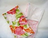 The Do Everything Cloth in Adele/Large Floral - Dish Cloth - Burp Cloth - Wash Cloth - Dust Cloth - Cleaning Cloth - Ready To Ship