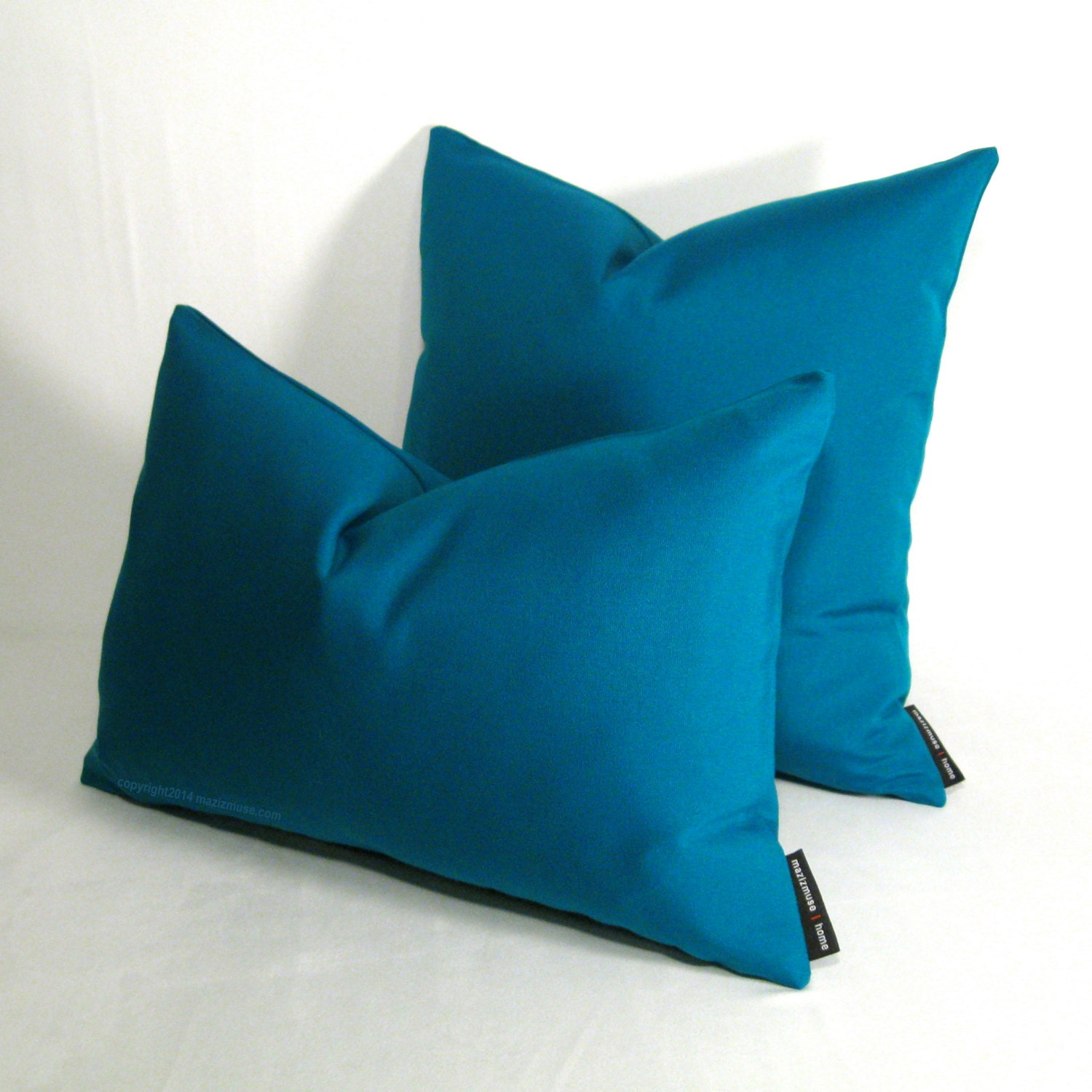 Teal Blue Throw Pillow Covers : Teal OUTDOOR Pillow Cover Modern Pillow Blue Green by Mazizmuse
