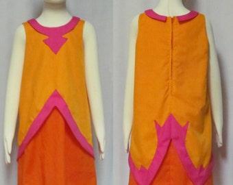 Fire Flame Princess Princess Bubblegum Costume Adventure time Cosplay Child Girl's Size 3 4 5 6 7 8