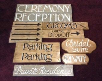 Custom wooden hand painted wedding sign