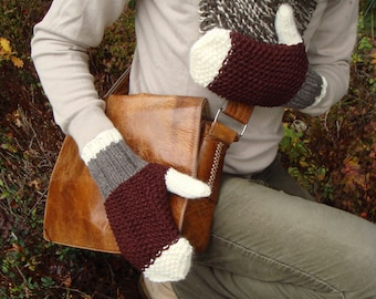 Men winter mittens, wool gloves, for him, gift