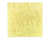 Gold Glittered Glass Coasters, Set of Four