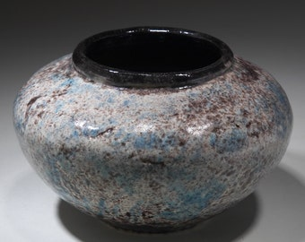 Handmade Wheel Thrown Decorative Speckled Ceramic Vase by Boris Vitlin.