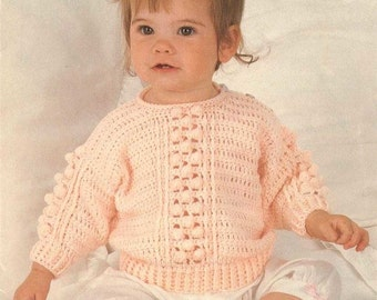 Baby/Child CROCHET PATTERN - Sweater 18 - 24 inch chest - *** Sale Sale Sale
