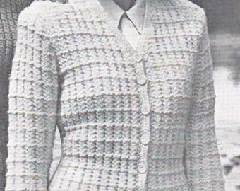 SALE**** Vintage Knitting PATTERN - Ladies Cardigan Sweater DK from the 1940s