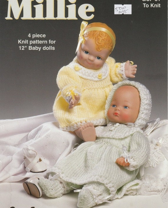 Knitting Patterns For Dolls Clothes 12 Inch : Download DOLL KNITTING PATTERN for 12 inch baby dolls