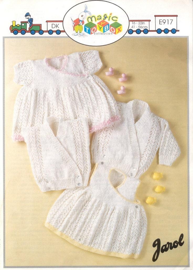 Knitting Pattern Gilet : BABY KNITTING PATTERN Short sleeved dress sleeveless