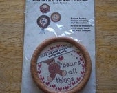 Mini Cross Stitch Frame and Graph Kit - Love Bears All Things - Frame and Graph ONLY